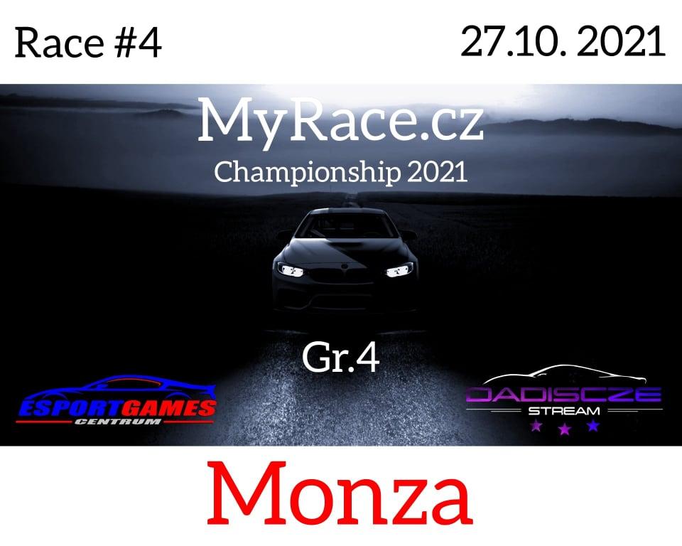 4. Závod - MyRace.cz Championship 2021 - Autodromo Nazionale Monza